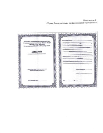 Приложение 1 диплом